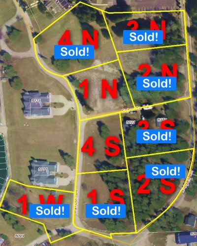 overhead image of numbered lots